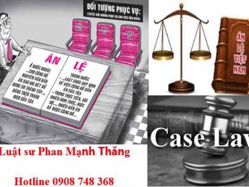 Nguyên tắc áp dụng án lệ ở Việt Nam