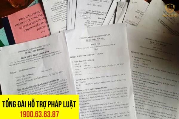 Đã nhiều lần bà Hương gửi đơn kiến nghị tố cáo đến trương ương và địa phương về vụ việc