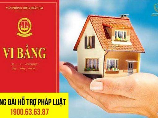 Hợp đồng cho mượn nhà ở bằng hình thức lập vi bằng