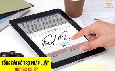 Hợp đồng được ký bằng chữ ký điện tử có hiệu lực pháp luật không?