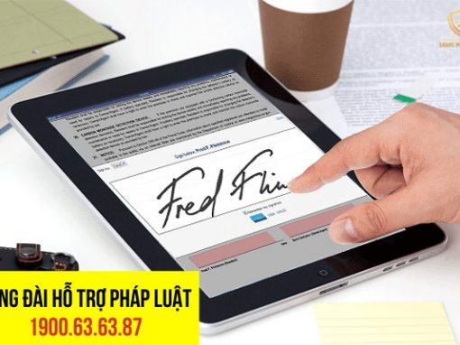 hợp đồng được ký bằng chữ ký điện tử