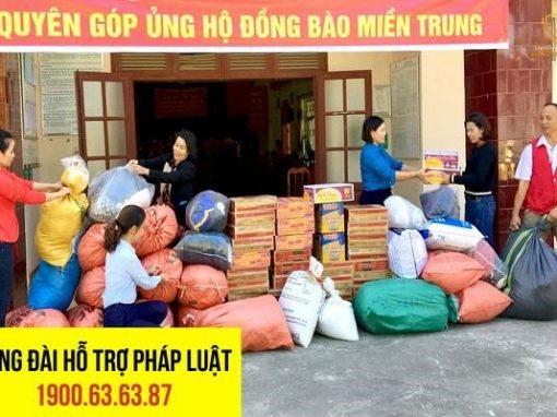 Hoạt động quyên góp ủng hộ đồng bào miền Trung